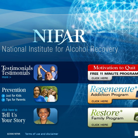 addiction rehab | web design, copy