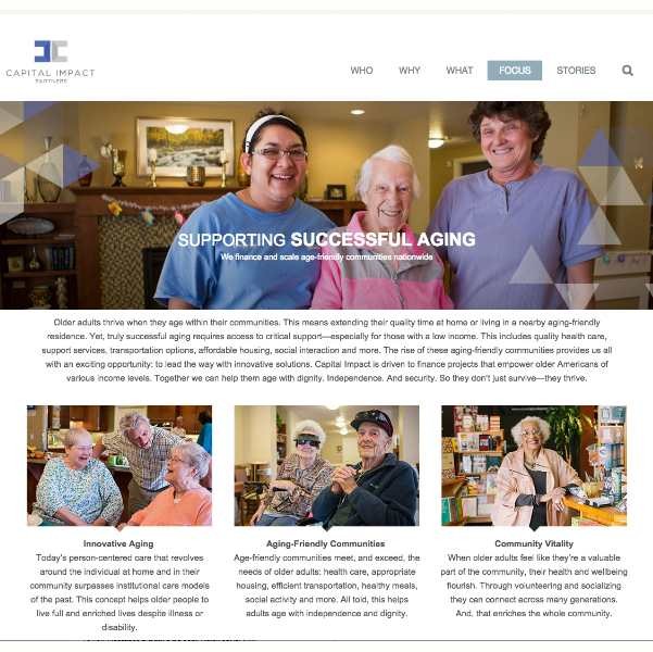 senior care| web copy & SEO
