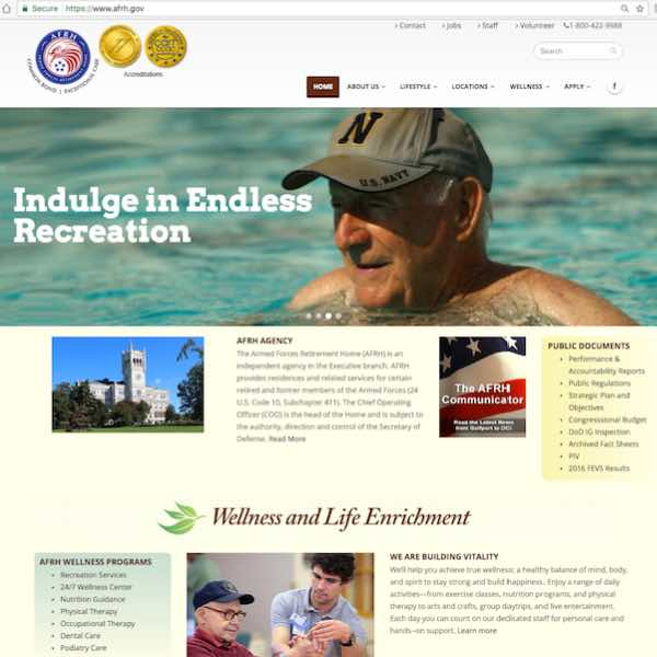 retirement home | web copy & SEO